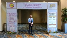 Josh Dendler at National Health Physics Conference